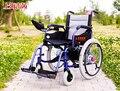 Silla de ruedas eléctrica deshabilitado ancianos anciano caminando vehículo Portátil plegable silla de ruedas de freno