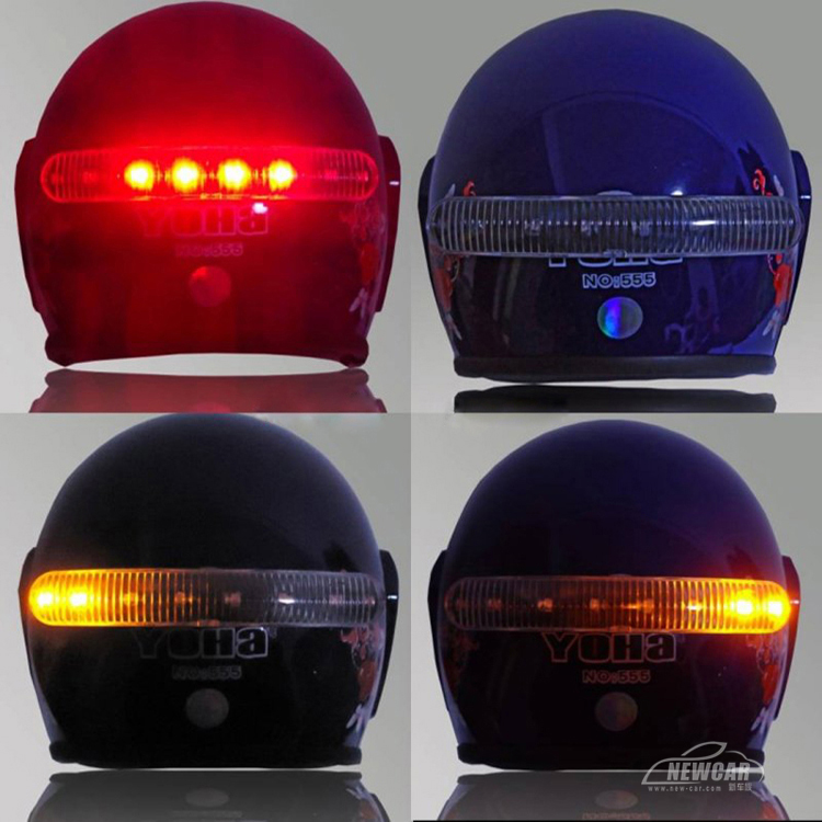 12v Diy Led Motorcycle Helmet Mount Stop Brake Running