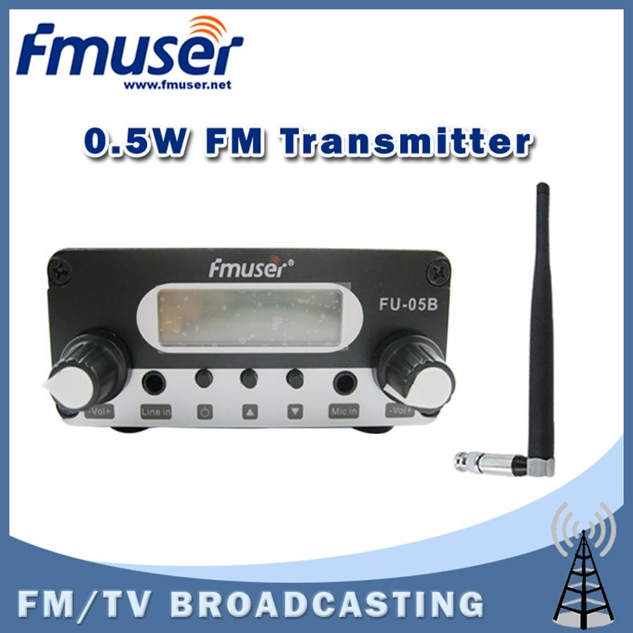 Free shipping FMUSER FU-05B 0.5w FM radio transmitter Indoor Rubber Antenna Package free shipping fmuser fu 30c new 30w fm transmitter 0 30w adjustable for fm radio station 1 2 wave dipole antenna kit