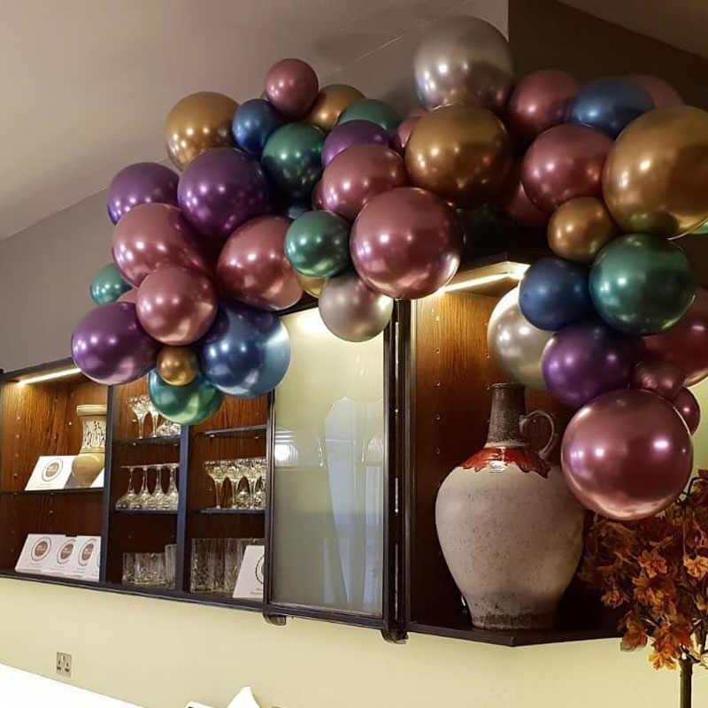 20, 50, 100 шт, 12 дюймов, 10 дюймов, толстые хромированные латексные шары, 100 шт, украшения для дня рождения, детские металлические шары, декор для детского душа