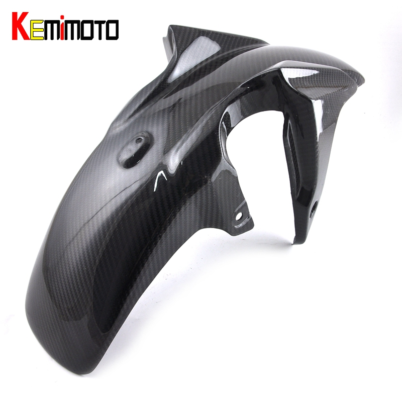 KEMiMOTO Motorcycle Front Fender Cover 100% Real Carbon Fiber For Yamaha MT-07 FZ-07 2016 MT 07 MT07 accessories 2014-2016 for yamaha mt 07 fz 07 mt07 cnc aluminum front sprocket cover motorcycle part for yamaha mt07 fz07 2014 2015 2016 100% brand new