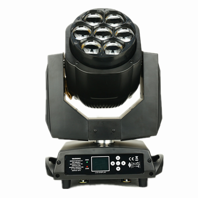 7x15W 4 in 1 rgbw led moving head zoom wash light 7pcs led mini bee eye moving heads dj lighting LCD display single control leds trending hot products 7pcs 10w 4 in 1 rgbw led wash mini moving head dj light dmx512 holiday lighting for club disco decorations