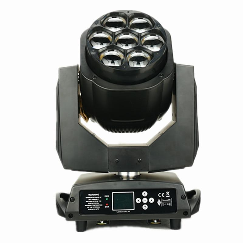 7x15W 4 in 1 rgbw led moving head zoom wash light 7pcs led mini bee eye moving heads dj lighting LCD display single control leds