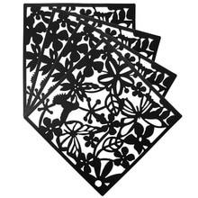 4Pcs Flower Wallpaper Sticker Room Divider