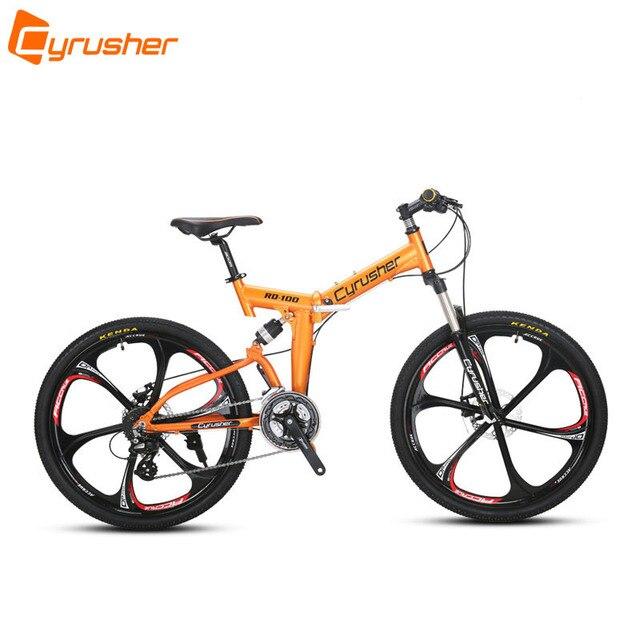 Cyrusher RD100 складной горный велосипед полная подвеска рама дорожный велосипед 24 скорости 26X17 дюймов двойные дисковые тормоза MTB велосипед