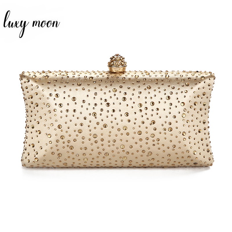 Clutch Bags For Women 2019 Wedding Green Clutch Purses And Handbags With Rhinestone Gold Shoulder Bag Ladies Evening Bag ZD1300