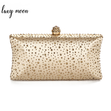 Gold Clutch Bags for Women 2020 Green Clutch Purses and Handbags with Rhinestone Wedding Shoulder Bag Ladies Evening Bag ZD1300