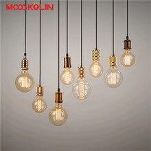 Aluminum Pendant Light E27 Lamp holder For 110V 220V led/Incandescent Edison Bulb Vintage Retro decor hanging Lamp For home/room
