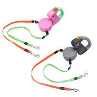 Automatic Extendable Retractable Traction Rope With Two headed Dog Leash Adjustable Puppy Dog Chain Pet Supplies 2 Colors 3MABS