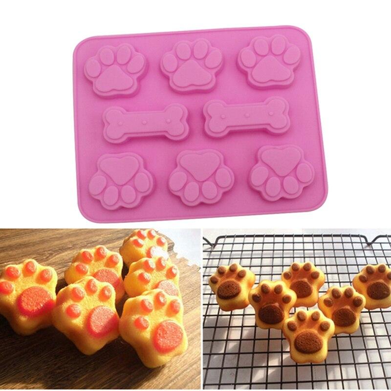 Kacniohen Hund-Kuchen-Form-silikon-Form F/ür S/ü/ßigkeit Schokolade Bakeware Form-6 Cavity Zuf/ällige Farbe