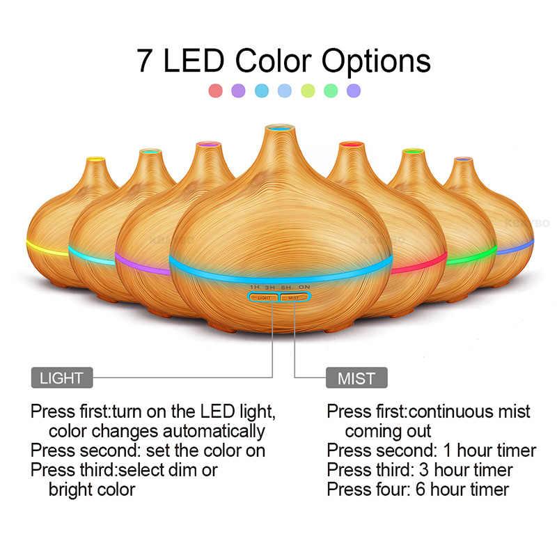 550Ml Afstandsbediening Ultrasone Luchtbevochtiger Etherische Olie Diffuser Aroma Lamp Aromatherapie Elektrische Aroma Diffuser Mist Maker