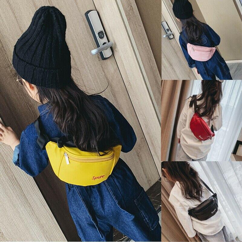 Women Fashion Waist Fanny Pack PU Leather Belt Zipper Waist Bag Casual Chest Bag