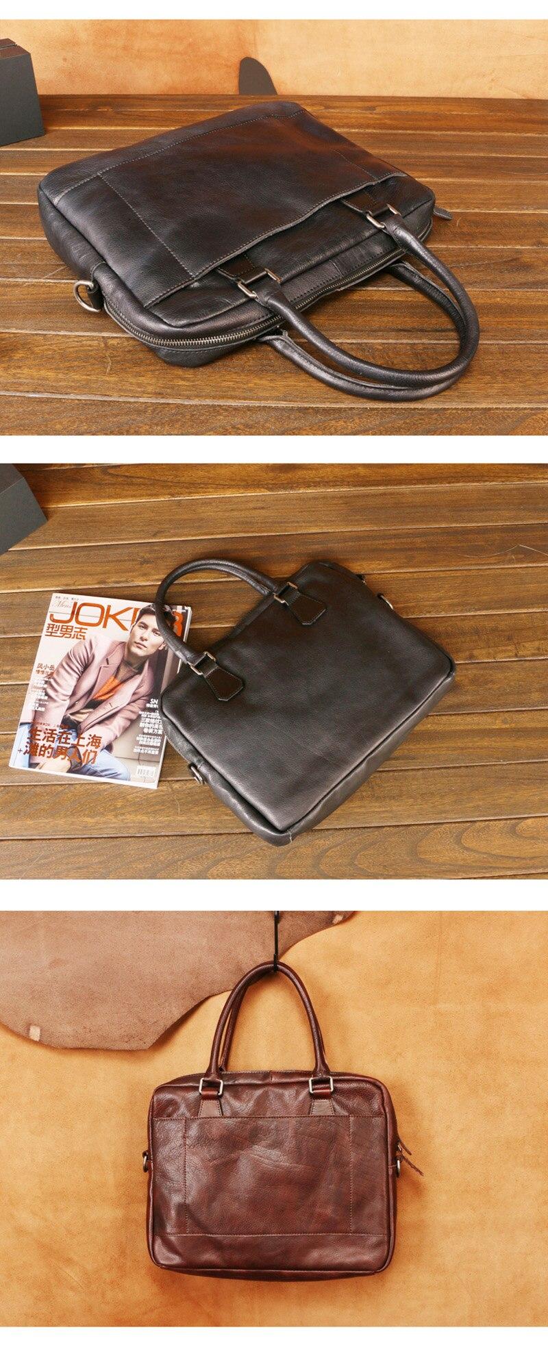 AETOO Nova bolsa de couro dos homens,