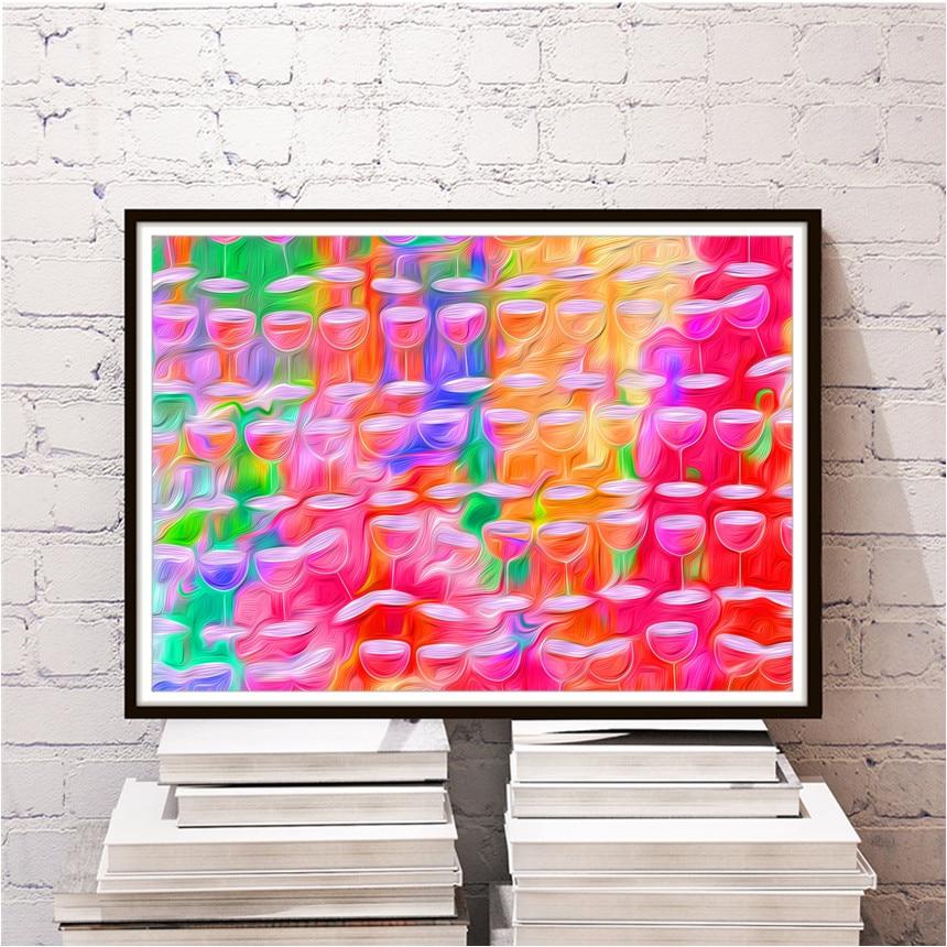 Colorful Deer Living Room Decor Pattern - Living Room Designs ...