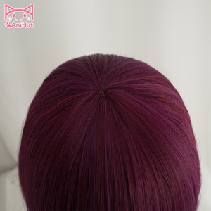Image 4 - Peluca de Cosplay KDA POP/STAR Akali para mujer, peluca larga y lisa de color morado y rojo, pelo de piel de LOL juego