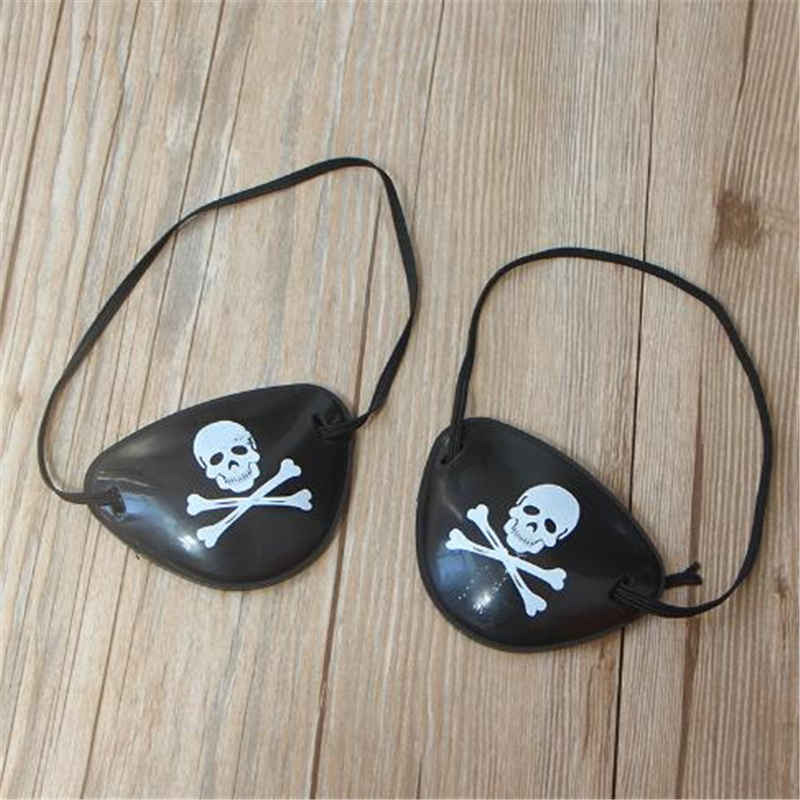 Free Shipping Halloween Costume Cosplay Cosplay Adult Child Masquerade Monocular Pirate Caribbean Single Eye Mask