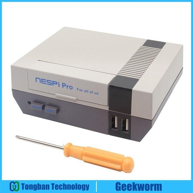 Yeni Ahududu Pi 3 B + (Artı) NESPi Pro RTC ile NES FS Stil Oyun Konsolu