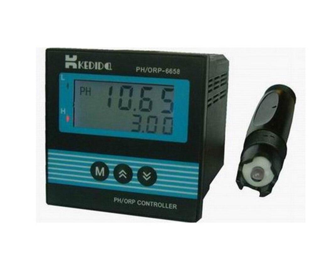 LCD CT-6658 PH/ORP Contrôleur CT-6658 + ph électrode l'industrie ph capteur CT-1001