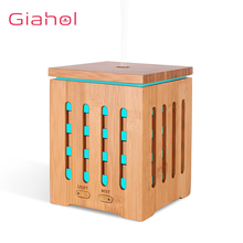 GIAHOL 200ML Natural Bamboo Essential Oil Diffuser With LED Color light USB Ultrasonic Aromatherapy Humidifier for home Bedroom