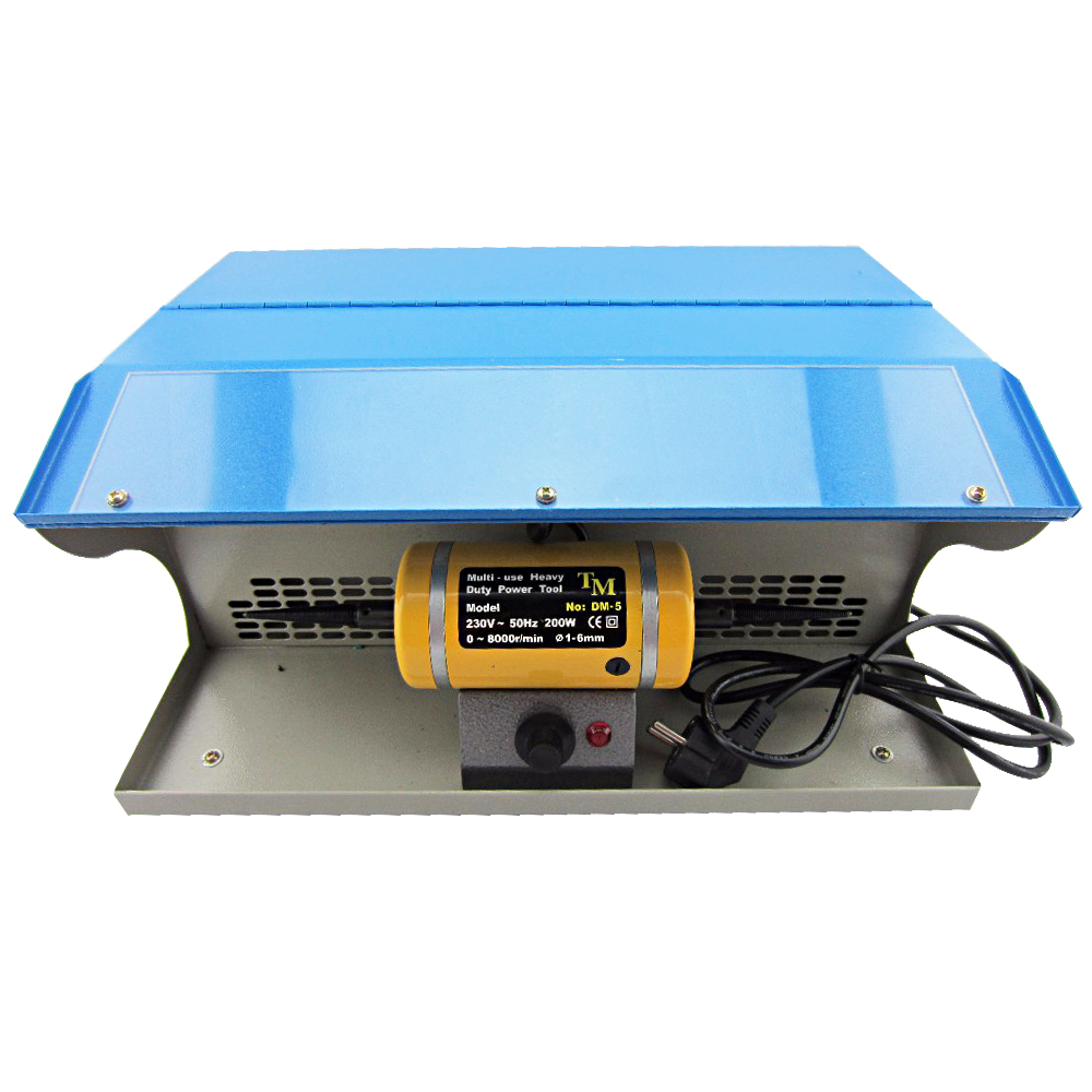 PHYHOO Polishing Buffing Machine With Dust Collector Bench Jewelry Polisher Multi-Use Heavy Duty Power Tool 8000RPM