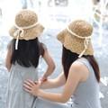Girls Mom Women's Hats Sun Cap Child Parent Women Lady Beach Sunshine Straw Hat Hollow Collapsible Visor Hat