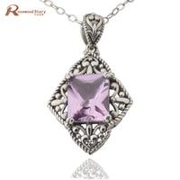 Thomas sabor sieraden Vrouwen nieuwe bruiloft ketting hangers roze steen soild 925 sterling zilver crystal antieke hangers