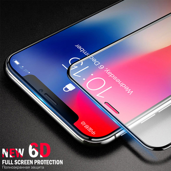 Full Coverage Edge Tempered Glass For Iphone Xs Max Xr 6 6s 7 8 Plus Screen Protector Anti-scratch Hd Screen Protector