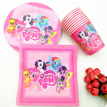 40pc/set My little Pony Party Supplies Theme Cup/Plate/Napkin Favors Kids Event Decorations  Minnie Mouse