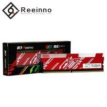 Reeinno RGB RAM DDR4 8GB ความถี่ 2666MHz 1.2V 288pin PC4 19200 CL = 19 19 19  43 สำหรับเกม PC RAM การรับประกันอายุการใช้งานหน่วยความจำ
