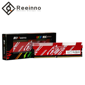 Image 1 - Reeinno RGB ram DDR4 8GB frequency 2666MHz 1.2V 288pin PC4 19200 CL=19 19 19 43 for PC game ram Lifetime Warranty Desktop memory