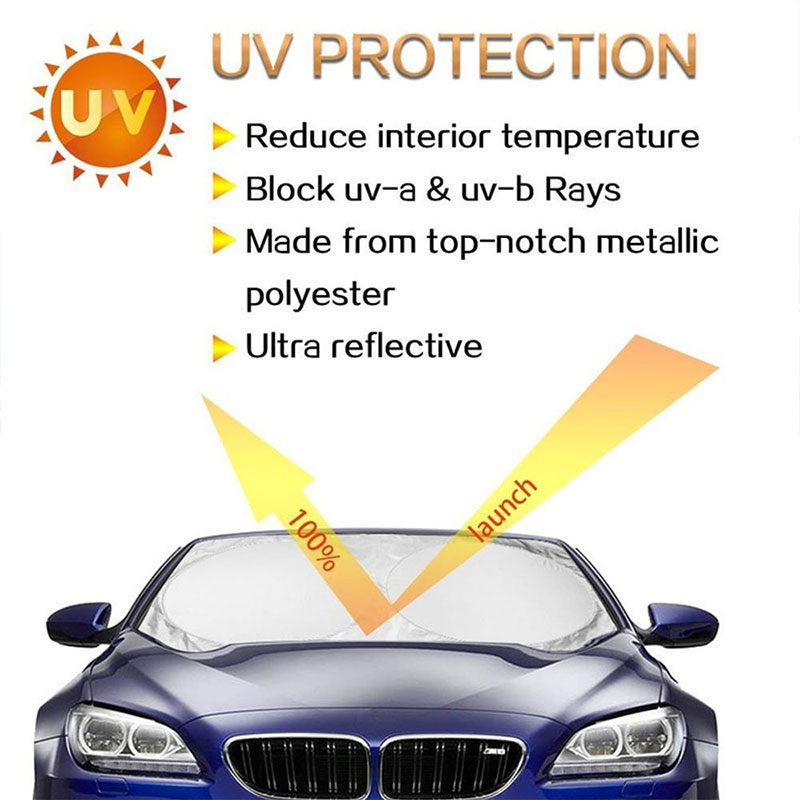 <font><b>190*90</b></font> Front Window Windshield Auto Sun Visor Large SunShade Durable Block Cover Protector Vehicle image