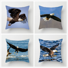 Fuwatacchi Raptor Bald Eagle Mountain Lake Pillow Cover Animal Cushion For Car Home Living Room Decorative Pillowcase 2019