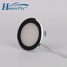 HoneyFlyที่จดสิทธิบัตรLED Down Light 220 240V 2W LEDโคมไฟเพดานโคมไฟSMD 2835ในร่ม55มม.ตัดติดตั้งง่ายมาก