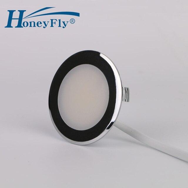 Honeyfly特許ledダウンライト220 240v 2ワットled天井スポットランプsmd 2835屋内55ミリメートルカット穴非常に簡単なインストール