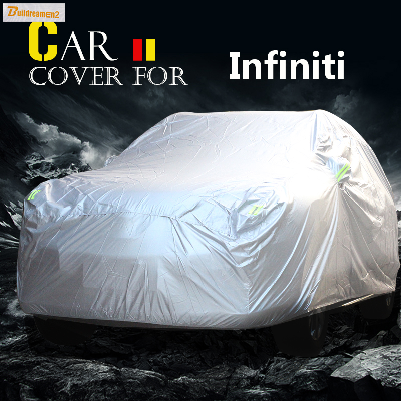 Buildreamen2 Car Cover SUV Outdoor Sun Anti UV Rain Snow Scratch Protection Cover Waterproof For Infiniti