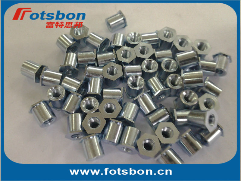 TSOA-6M3-1200 резьбовые стойки для тонких листов как 0.25/0.63 мм, pem стандартные, AL6061,