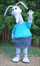 Deluxe Custom Made White Aardvark with Attitude Aardvark Anteaters Mascot Costume Adult Size Cartoon Character Mascotte SW1170(China)