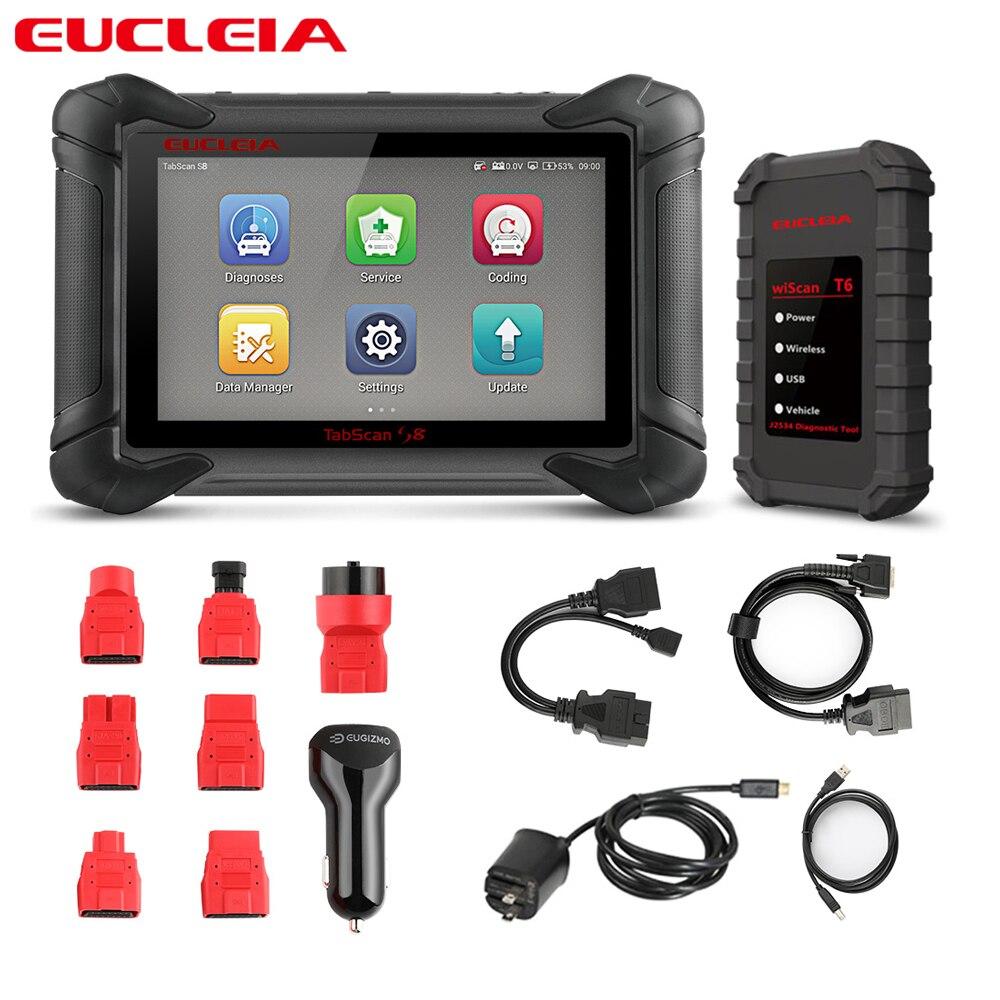 EUCLEIA S8 Professional Diagnostic Tool OBD OBD2 Full System Automotive Scanner