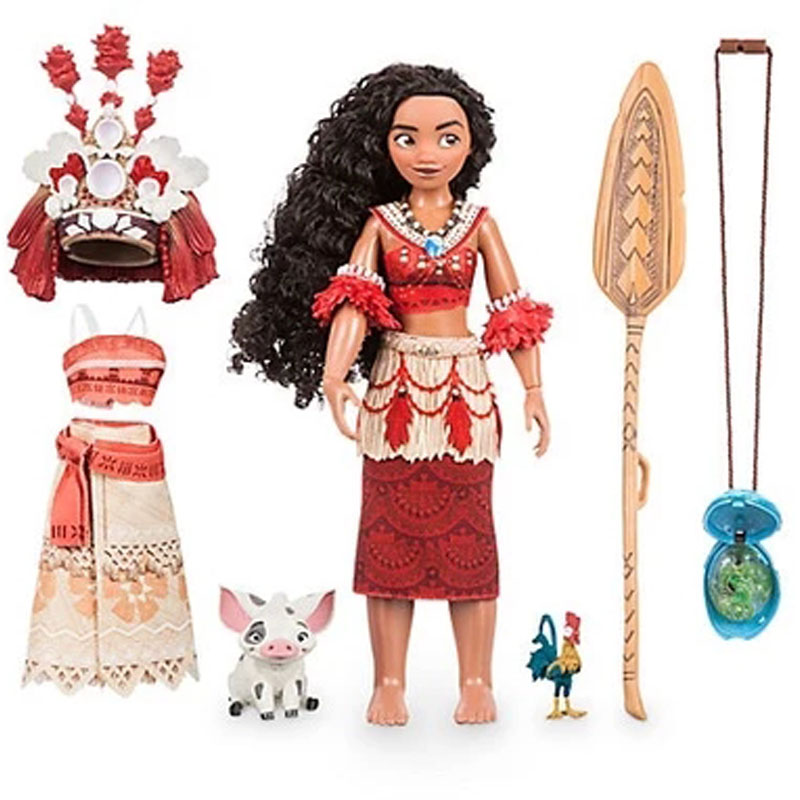 28cm Moana Action & Toy Figures Chick Heihei Spotted Pig Light Action Figures Toy Model Doll For Girls Kids Lover Christmas Gift hot sale kids personalized christmas gifts moana adventure mo ahna moana princess doll gift anime toy figures toys for children