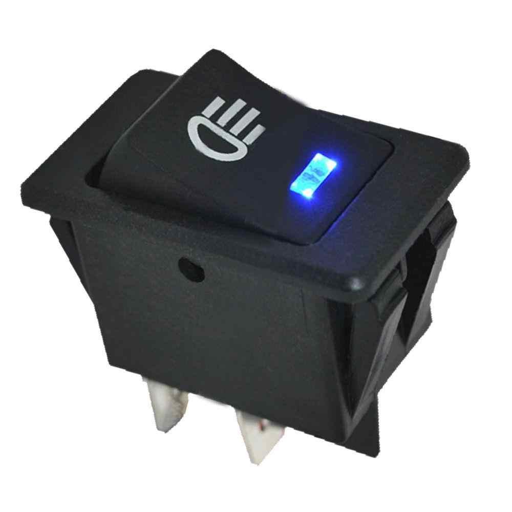 35A Universal Car Accessories Auto Fog Light Lamp Rocker Toggle Switch Blue LED