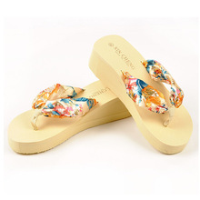 Bohemia Floral Beach Sandals Wedge Platform Thongs Slippers Flip Flops dopship