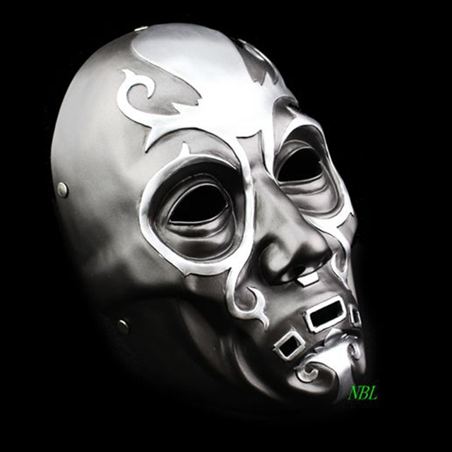 Harry Potter Series Death Eater Mask Halloween Horror Malfoy Lucius Resin Masks Private Party Cosplay Masquerade Costume Props 1