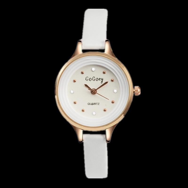 Gogoey Small Leather Watch Women Watches Rose Gold Women's Watches Crystal Ladies Watch Clock saat bayan kol saati reloj mujer