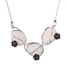 Новая мода высокого качества оптовой веб-железная цепь цветок сплава ожерелье для женщин Рождественский подарок воротник аксессуары 2016