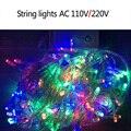 10 M 100 LED bola de Cordas Luzes Festa de Natal Decorativa Festival Cintilação Corda Lâmpada guirlanda de Natal Jardim luz LED String