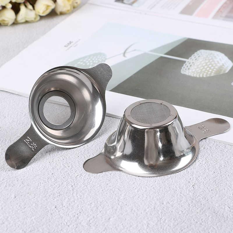 Baru Stainless Steel Teh Saringan Mesh Halus Kungfu Cina Daun Teh Corong Filter