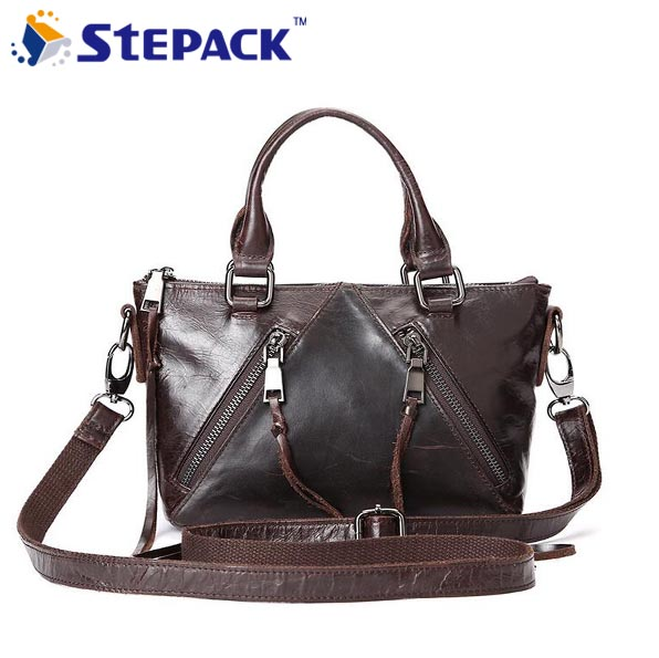 2017New Arrival Real Leather Women Briefcase Vintage Shoulder Bag Tote Leather Business Bags WMB0220 2017 new arrival designer women leather handbags vintage saddle bag real genuine leather bag for women brand tote bag with rivet