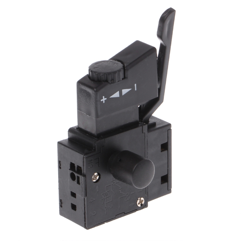 FA2-6/1BEK Lock on Power Tool Electric Drill Speed Control Trigger Button Switch power tool push lock button trigger switch dpst dual pole ac250v 6a