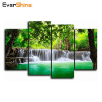 5D Diamond Painting Landscape DIY Rhinestones Embroidery 4PCS Full Square Crystal Cross Stitch Needlework Wall Decor