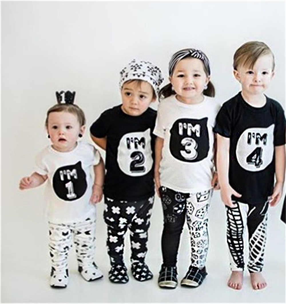 1 2 3 4 5 ปีวันเกิดคริสต์มาสเด็ก t เสื้อฝ้ายเสื้อยืดเด็กเสื้อผ้าเด็ก tee เสื้อผ้าเครื่องแต่งกายสำหรับเสื้อเด็ก